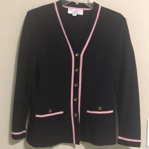 St. John Collection Knitted Cardigan Jacket SZ P
